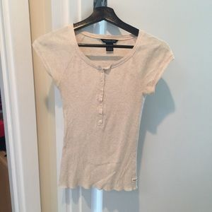 Abercrombie and Fitch large button front top